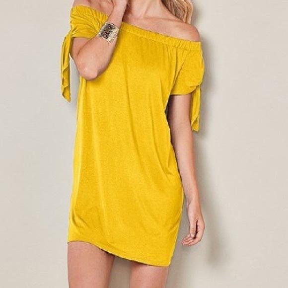 8a0363a06750 Beautiful yellow off the shoulder cotton dress. M 5b5e64a981bbc8898366f134